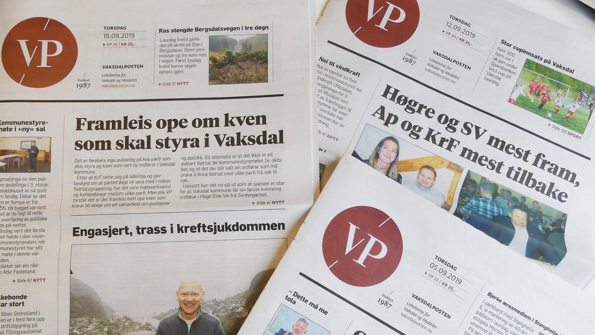 VaksdalPosten fekk fleire lesarar i første halvår. Mange likar framleis papiravisa, men veksten kjem på nettet.