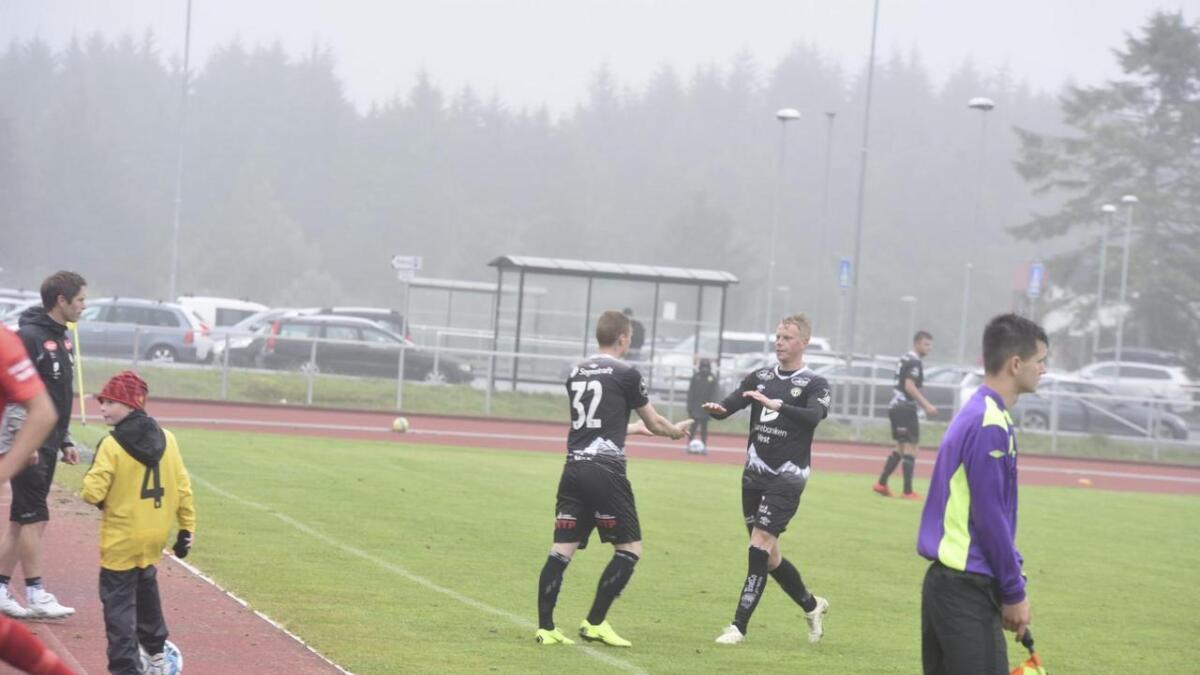 Bremnes-spelar Povilas Kiselevskis fekk nokre minutt i Sogndal-drakta
