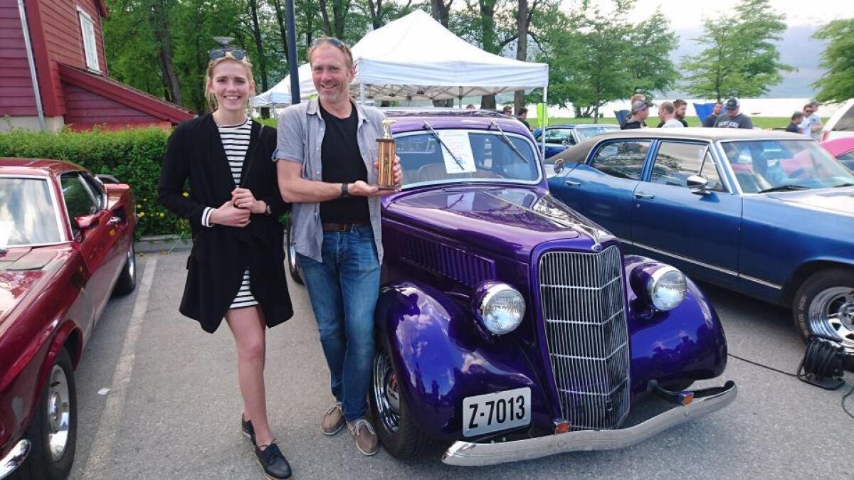 Ein Ford Coupe 1935 modell eigd av Ole J. Opkvitne fekk tredjeplassi publikumskonkurransen.