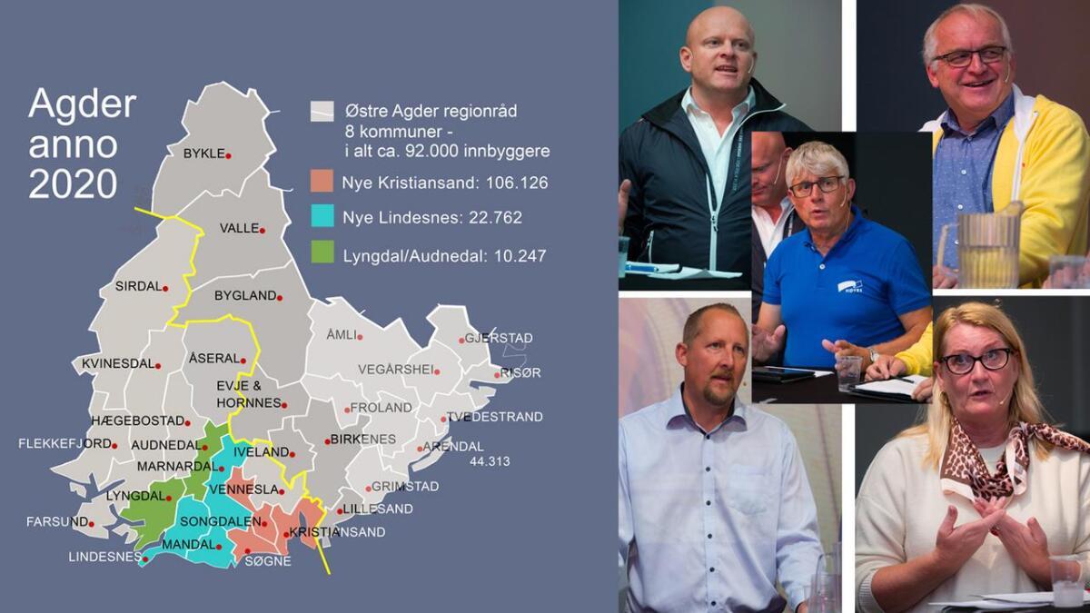 Fra 2020 blir Agder ett fylke.