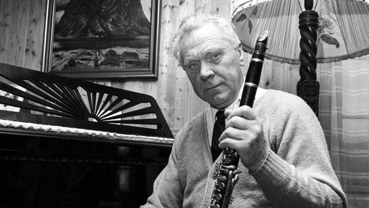 Leif Christoffersen, Geilo, med klarinetten sin.