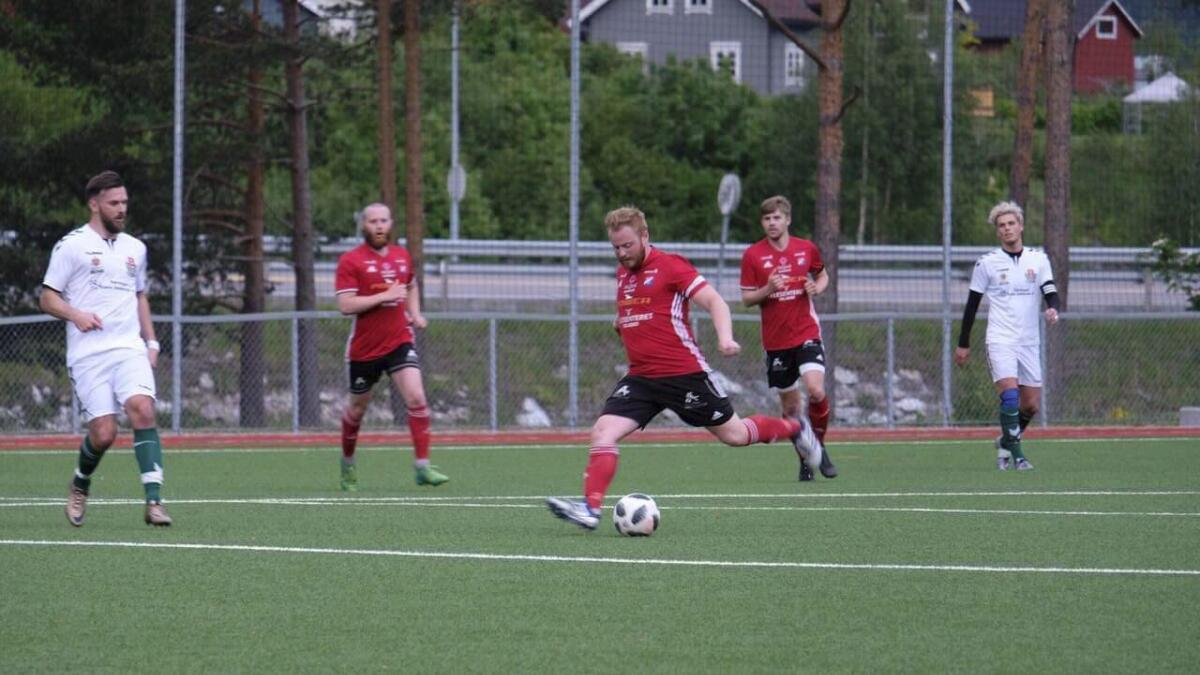 Kristian Reitan Thorvaldsen sette 1–0 til Seljord.             ARKIV
