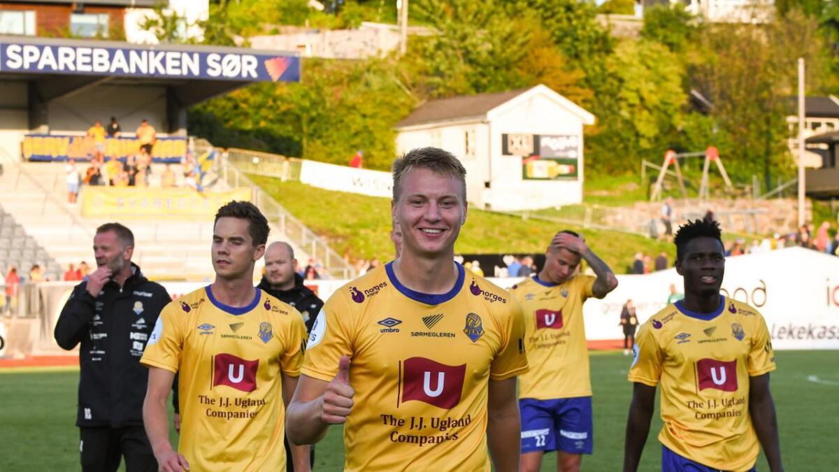 Endelig satt ballen i nettet for Ole Marius Håbestad hjemme på Levermyr.