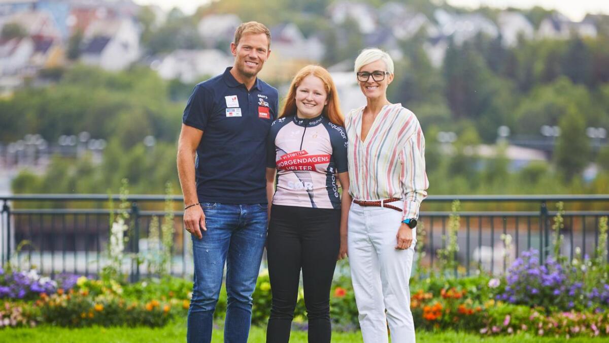 Morgendagens Helter-mentor Thor Hushovd, Linn Arnkværn Rislå og Cathrine Instebø, sponsorsjef i Equinor.