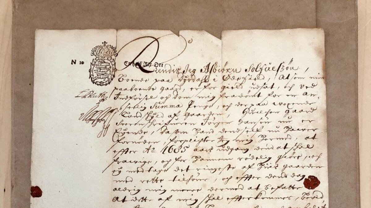 Asbjørn Saavisson Dyrdal  signerte med bumerket sitt, slik bønder som ikke behersket skrivekunsten       gjerne gjorde.