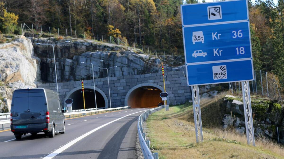 Har du ikke brikke blir det dyrere å kjøre på E18 i Vestfold.