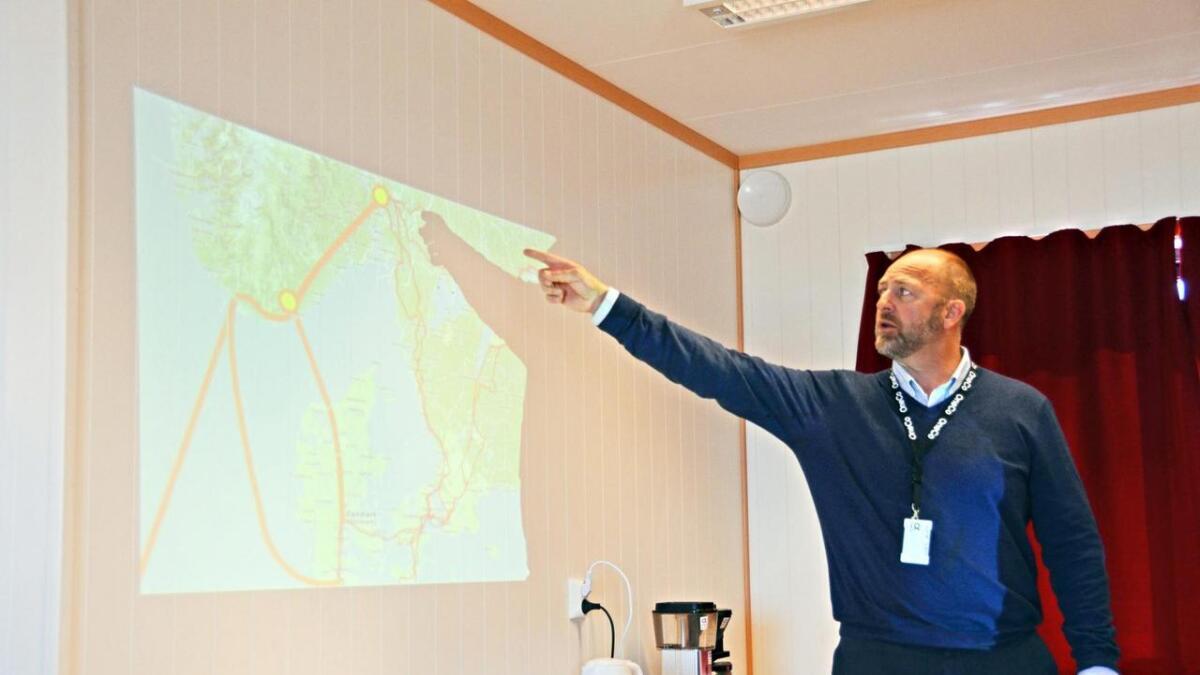 Bulk Infrastructure og Peder Nærbø vil markere at kabelen nå lander på norsk jord. Arkivfoto