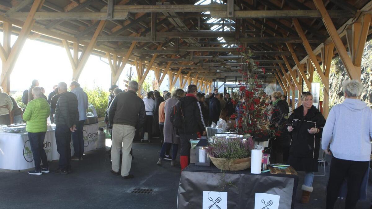 Vognhallen passar perfekt til matmarknad.