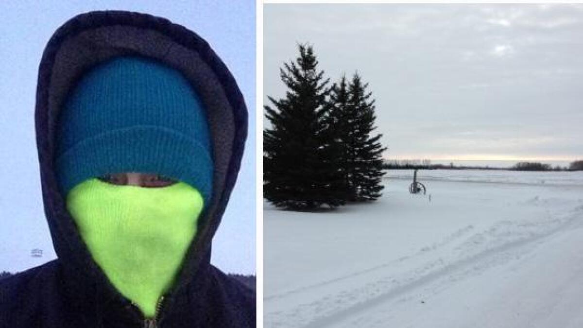 Janne Myrdal må kle godt på seg for å holde varmen når gradestokken kryper ned mot 40 minusgrader i Nord Dakota.
