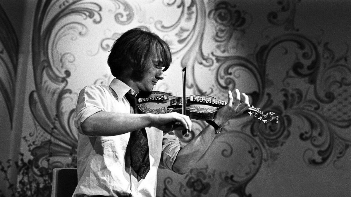 Knut Hamre, fotografert under folkemusikkdagane i Ål i 1976. (Arkivfoto)