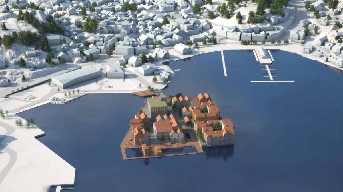 «Ønsker vi virkelig å bygge ned Torskeholmen på denne måten?» spør Per Irgens i dette innlegget. Forslaget til Vill Urbanisme var det som falt i smak hos utvalget som skulle vurdere dette. Rambøll/Vill Urbanisme