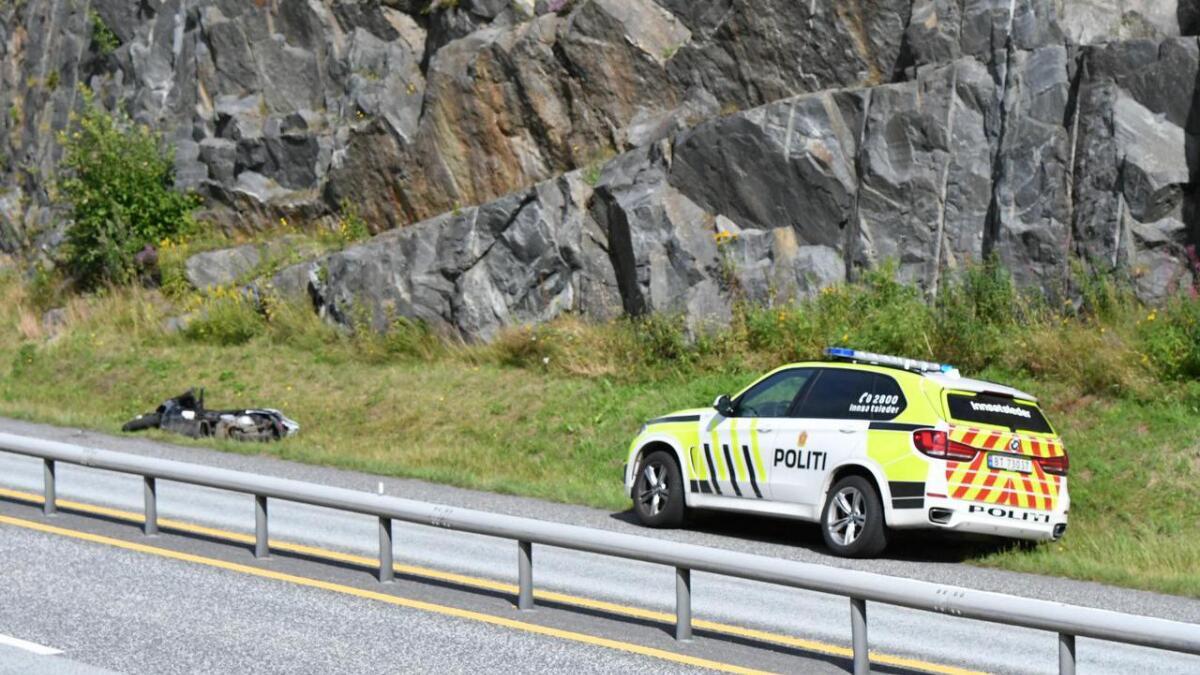 En person på en MC var involvert i en trafikkulykke på E18 i Arendal fredag ettermiddag. Vedkommende ble forsøkt stoppet av politiet forut for ulykken