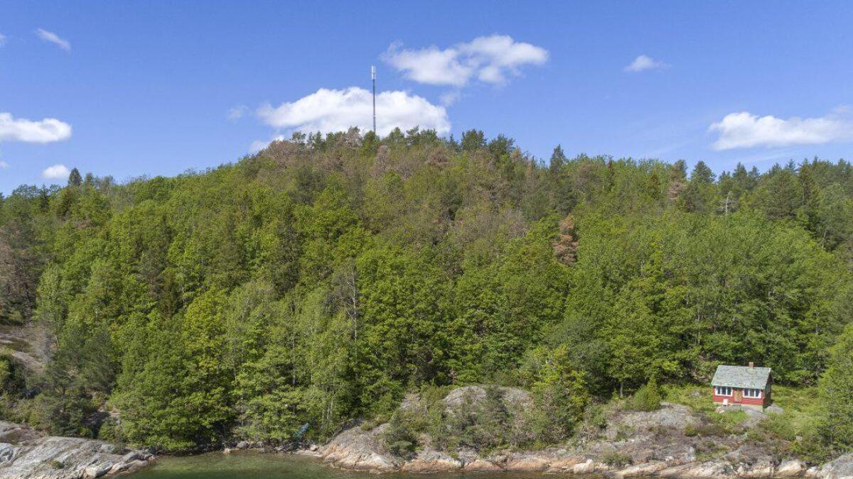 Det var ikke selve hytta som var trekkplasteret. Utsikt rett ut i fjorden og egen strandlinje lokket mange.
