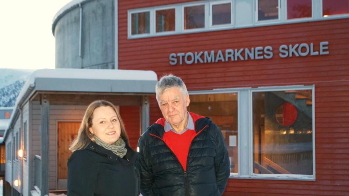 Stokmarknes-rektor Line Pedersen og oppvekstsjef Torbjørn Lappegard i Hadsel inviterer til samlinger for foreldre og lærere i Hadsel denne uka, med tema utenforskap og mobbing.