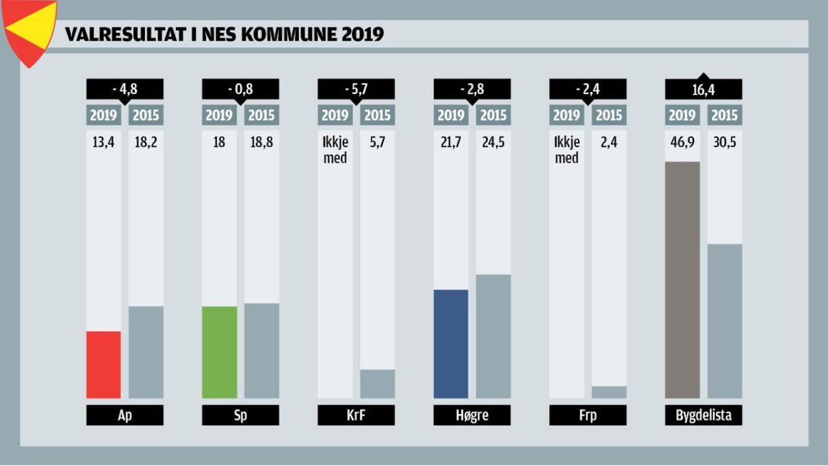 Nes kommune, 2019.