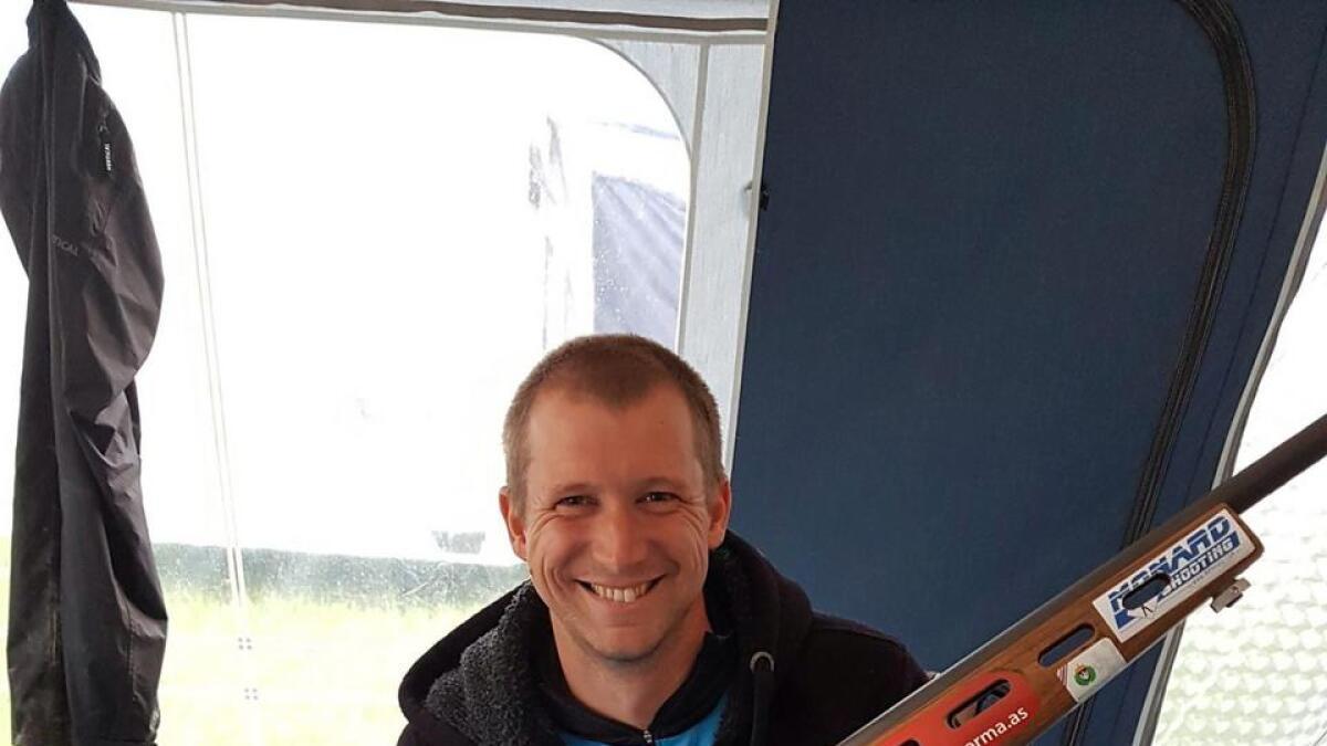 Tor Arnfinn Homme fra Birkenes kunne juble for NM-tittelen under Landsskytterstevnet i 2018.