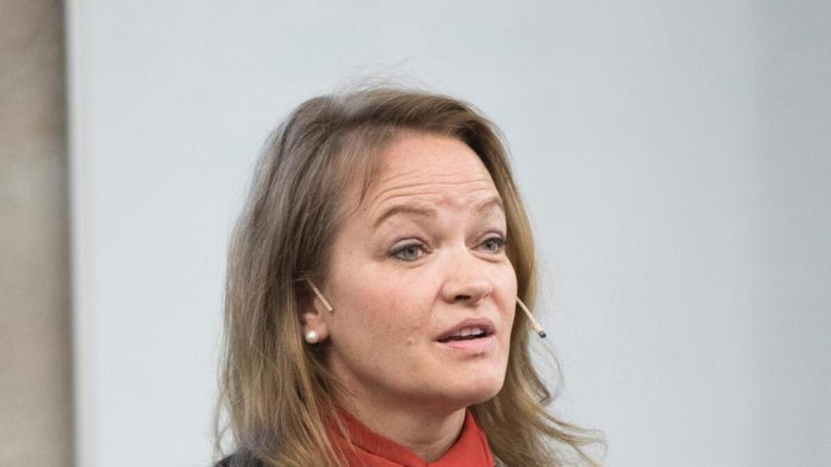 Kathrine Aspaas, økonom og journalist i mellom anna Aftenposten tek turen til Leveld laurdag.