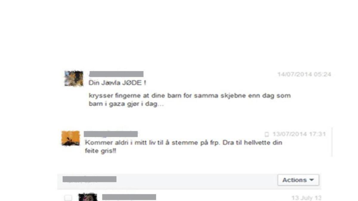 På Facebook og inn på sin egen telefon har personer kontaktet og truet Norheim.