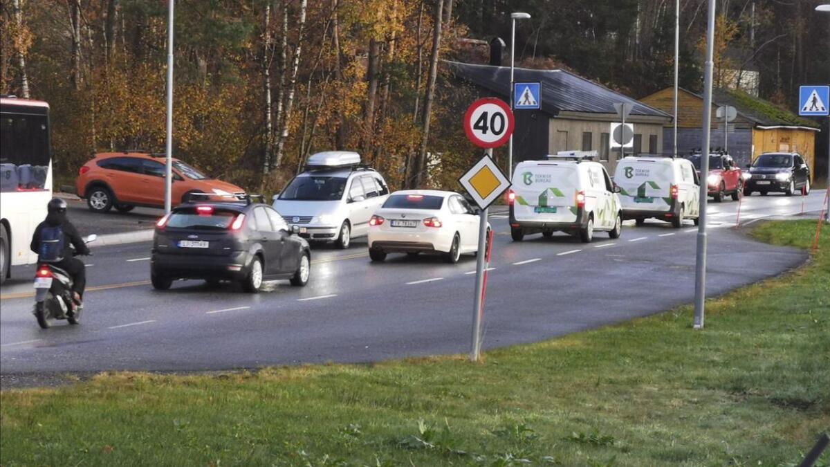 Den vesle stoppeplassen ved Rv 544 på Vabakkjen er for «kyss og køyr».