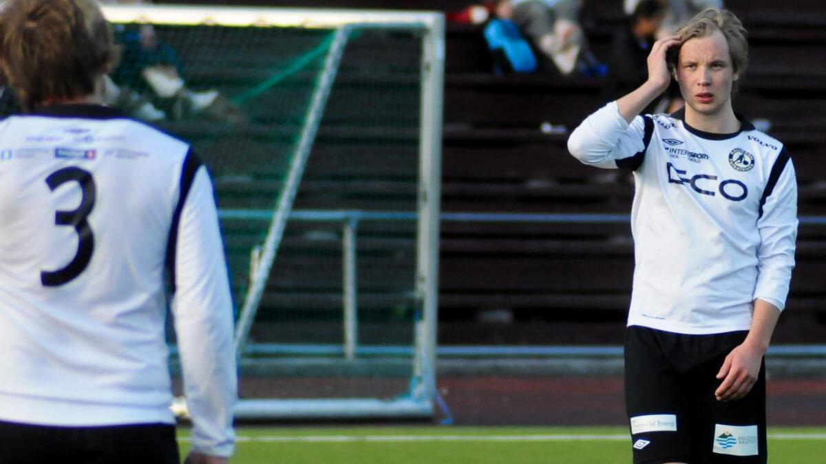 Fredrik Garnås var av dei beste på eit HFK-lag som slit med å setje sjansane på heimebane. (Arkivfoto)