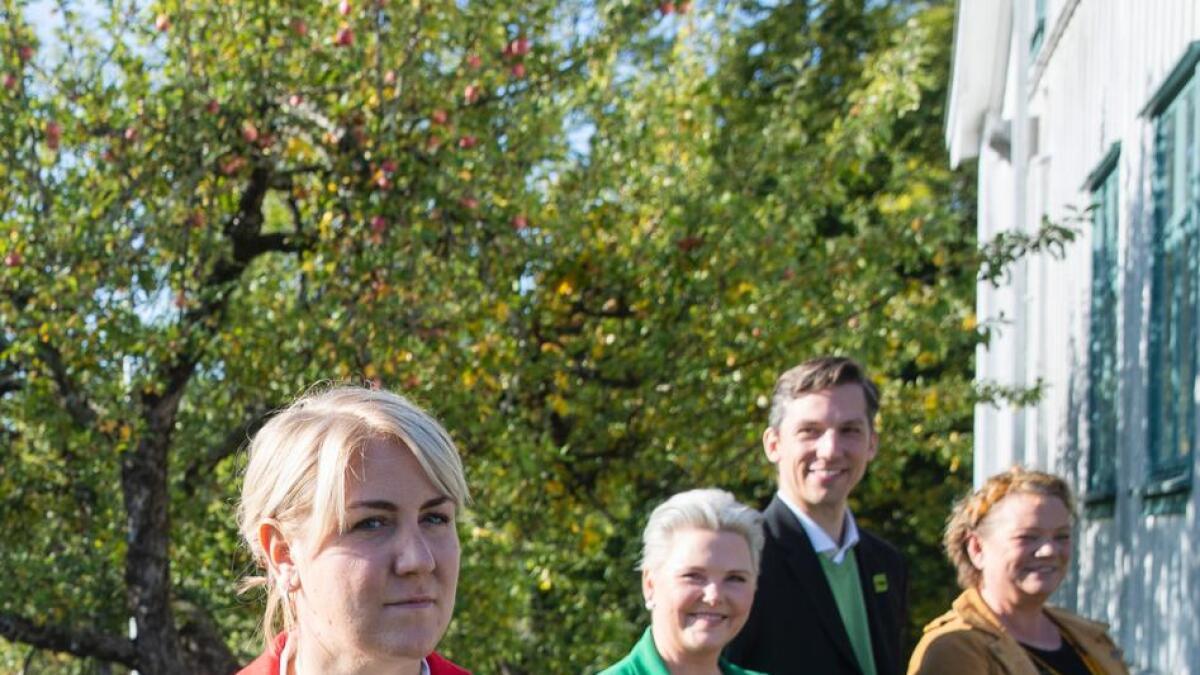 Dette er det rødgrønne fylkesrådet  i Viken som ikke vil være fylkesråd i viken. Foran fylkesrådsleder  Tonje Brenna (Ap).
