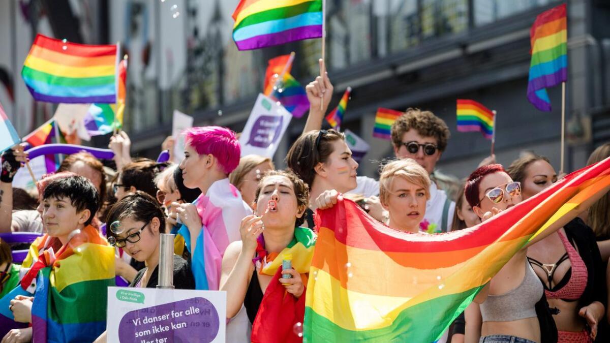 Paraden under Oslo Pride i 2017.
