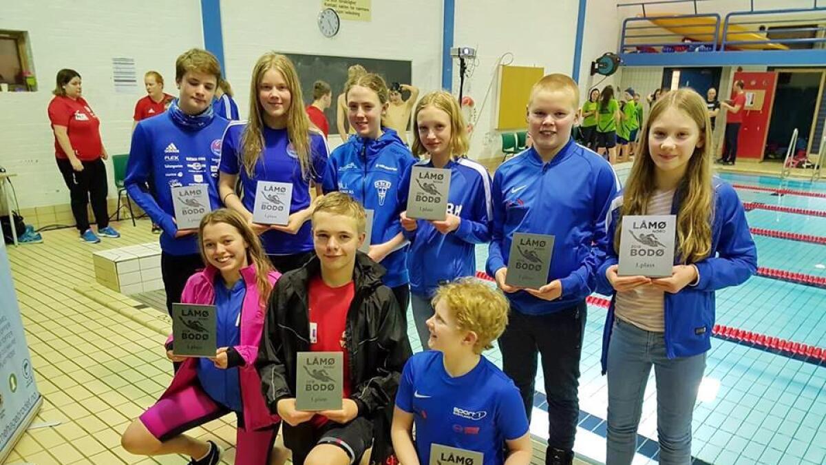 Sortland-svømmerne var godt representert blant vinnerne under stevnet.