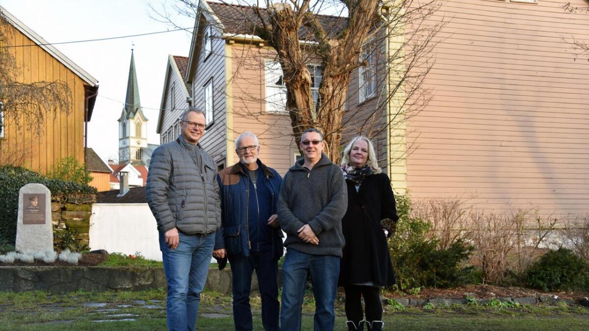 Ole Haus Olsen, Ebbe Krohn-Holm, Jonathan Sanders og museumsbestyrer Anne Sophie Høegh-Omdal.