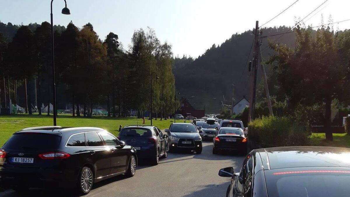 Slik ser det ut en vanlig ettermiddag i Askedalen. Til høyre i bildet ligger innkjørslene til boligene.