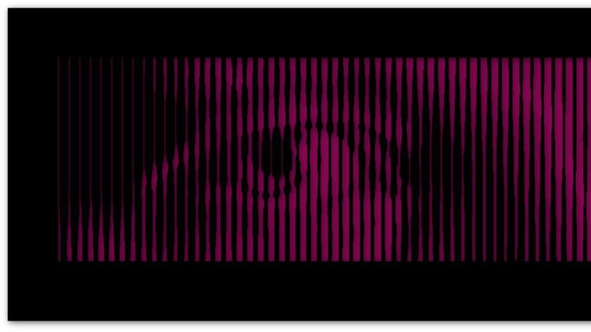 Selvportrettet av Eivind Blakers øyne har et format på 200 kvadratmeter.
