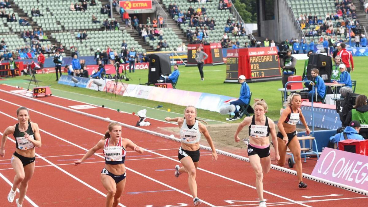 100 meteren i U23-EM ble som ventet tøff for Ingvild Meinseth.