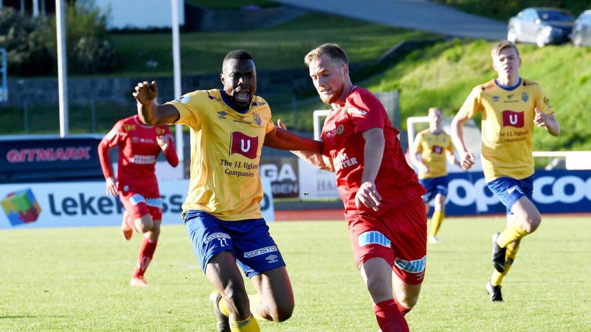 Nylig signerte Chuma Anene en ny låneavtale med Jerv. Så var han på vei til en engelsk klubb, men nå er han tilbake i gult og blått.