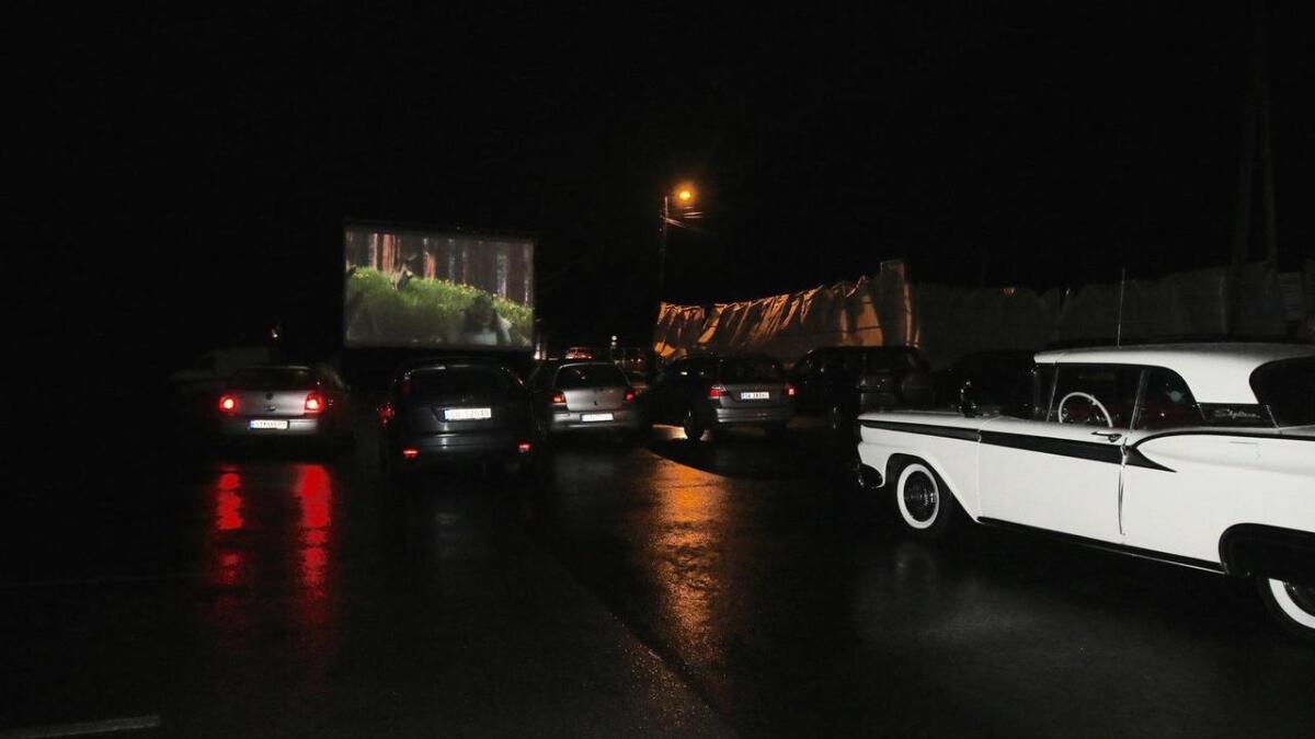 Stemningsfull drive-in-kveld på Røykenes.