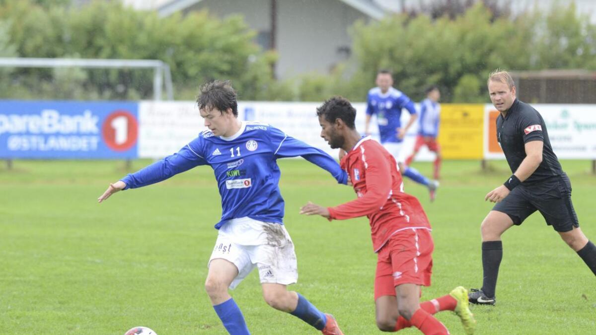 R&Å ledet 2-0 til pause og holdt ledelsen gjennom kampen. På bildet Magnus Granmo Finset.