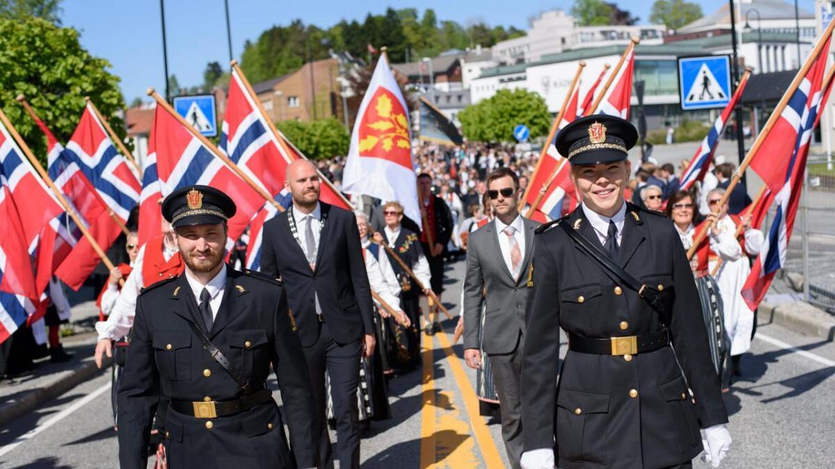 Frå borgartoget på Leirvik i fjor.