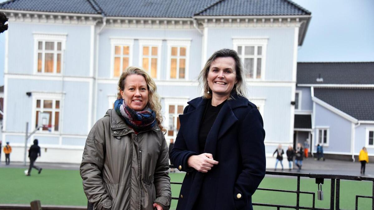 Anne Breivik og Cecilie Knibe Kroglund i Lillesand Ap.