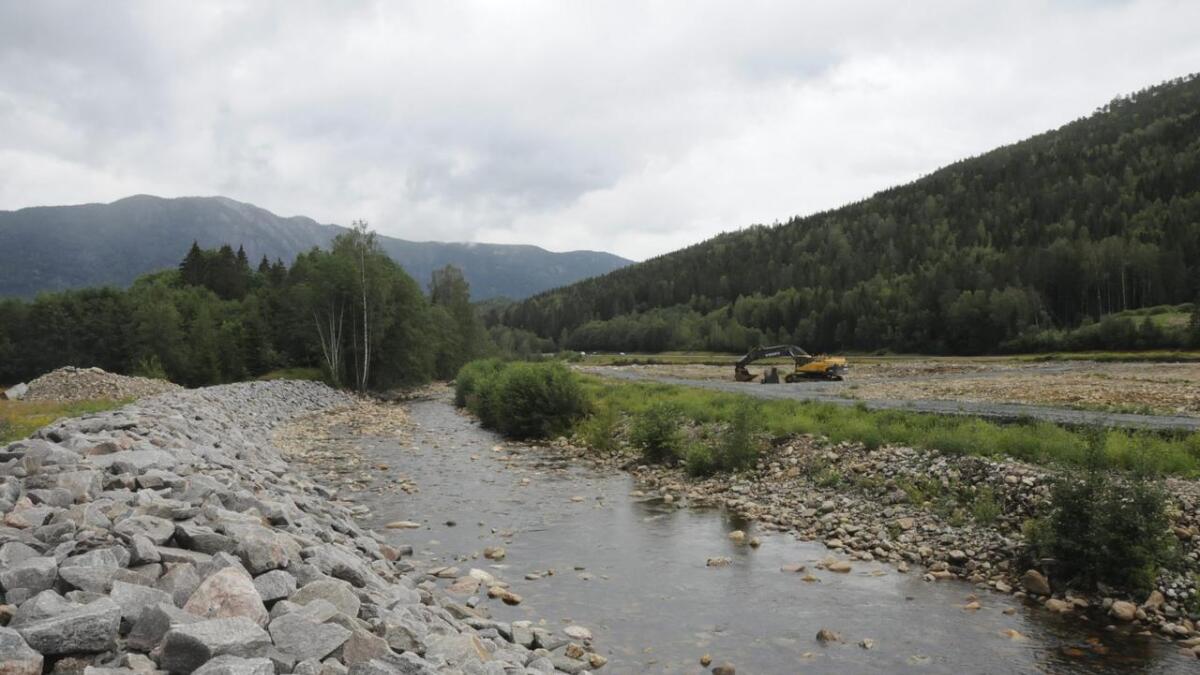 Under arbeidet med å fylle tomta til Telemark bilruter på Nordbygdi industriområde er kantarealet på sørsida av åi fjerna. Dette bryt med vilkåra, meiner Seljord kommune.Båe