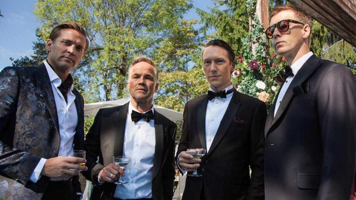 Med skodespelarar Tobias Santelmann, Jon Øigarden, Simon J. Berger og Pål Sverre Hagen.