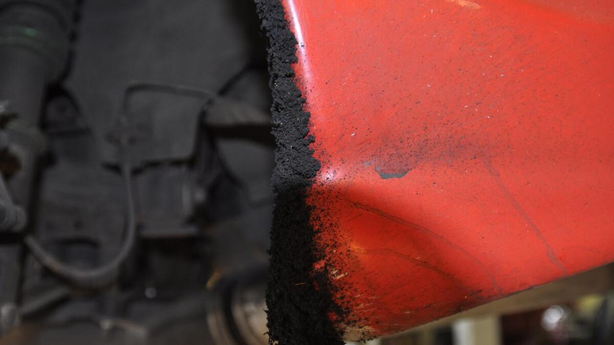Man må belage seg på lag med svidd gummi når man driver med drifitng.