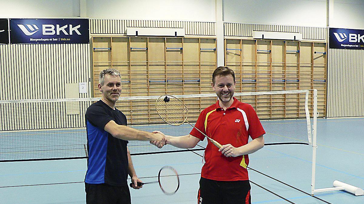 Morten Sellevold (t.v.) slo Robert Eriksen i ein intens finale i Turbinen laurdag.