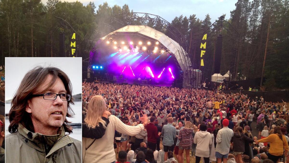 Øyeblikk som dette vil Lakselusforsker og Hovefestival-fan Bard Johannessen gjenskape på Hove. Bildet er fra 2014 da 10.000 mennesker hørte på gruppa Bastille på Amfiscenen.
