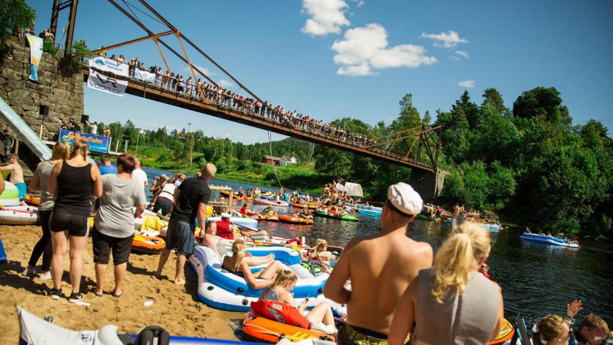 I år lover festivalsjefen tidenes tur nedover elva. Her fra 2016.