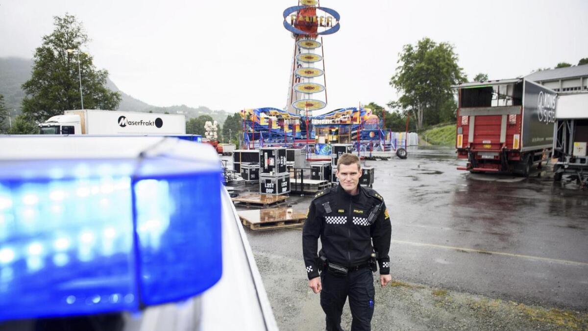 Atle Birkeland er innsatsleiar for politiet under Tysnesfest. Her fotografert under festivalen for to år sidan.