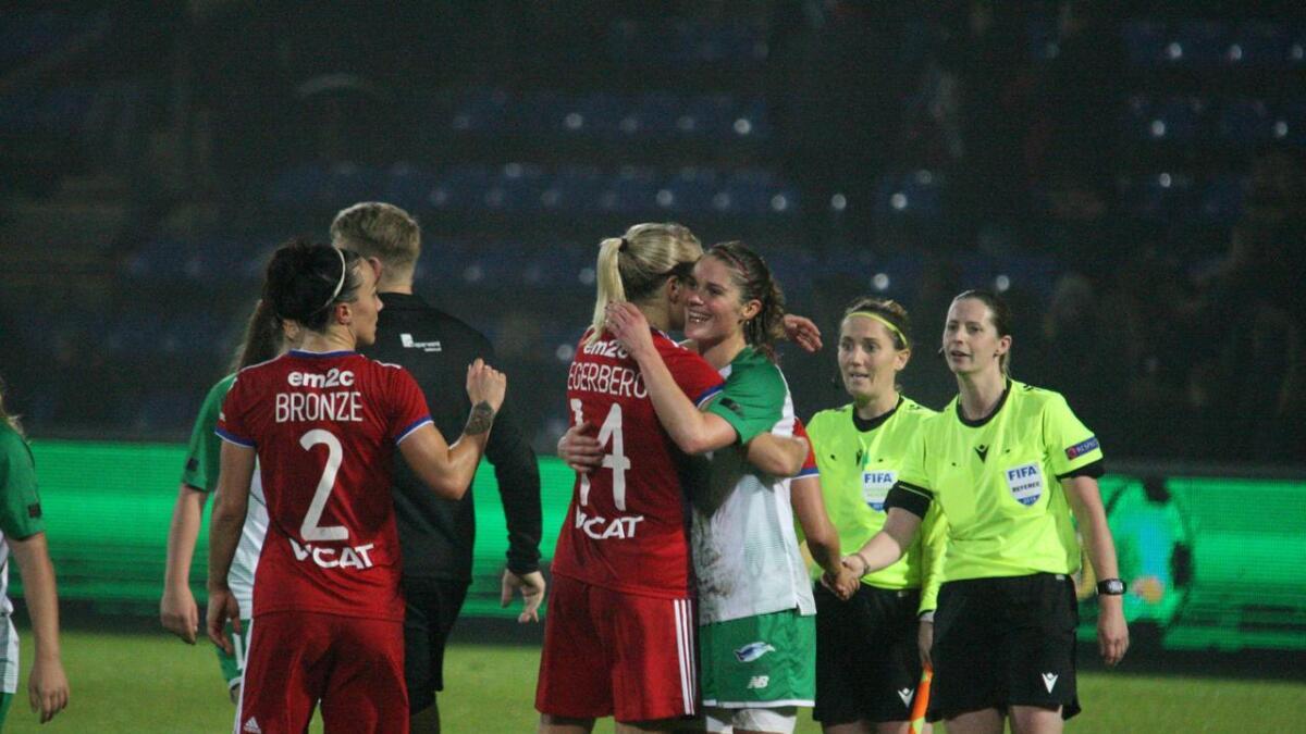 Laila Himle og Ada Hegerberg møttest i to kampar i Champions League.