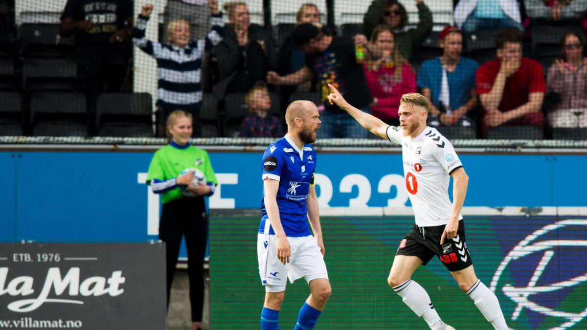 Fredrik Nordkvelle scoret mot Molde.