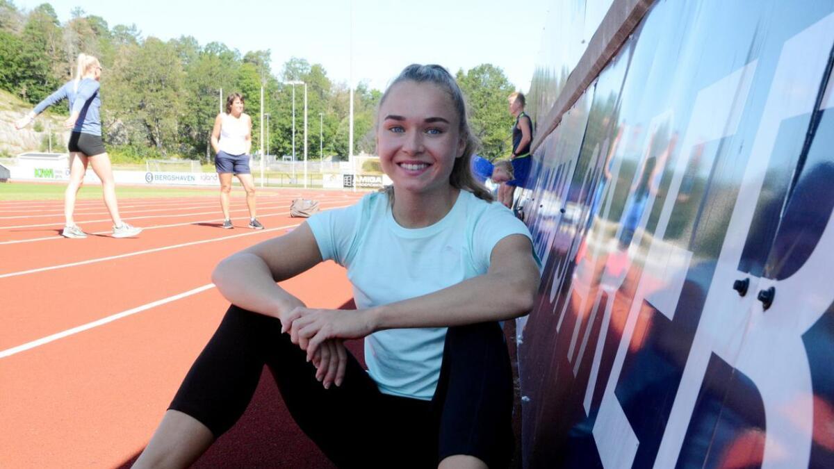 Ingvild Meinseth hadde sin siste trening på hjemmebane før U23-EM mandag formiddag. Nå er hun mesterskaps-klar.