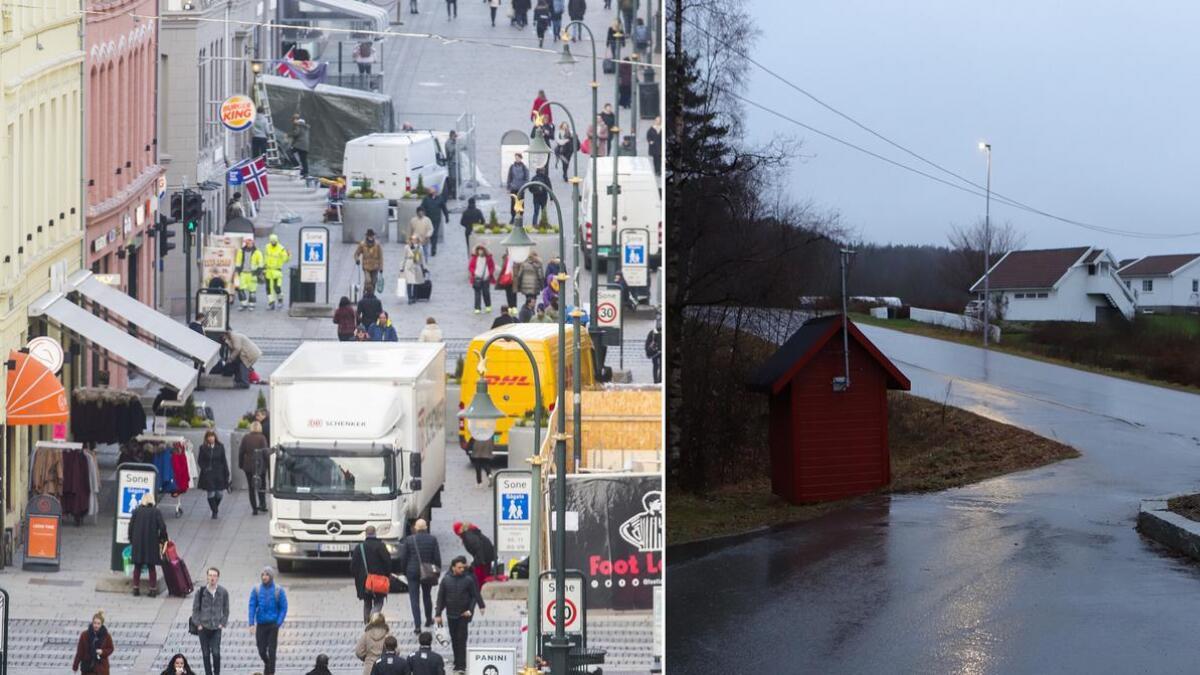Sammenlignet med Oslo-gryta, er det dårligere luftkvalitet i Oslo enn på Holta i Lillesand.