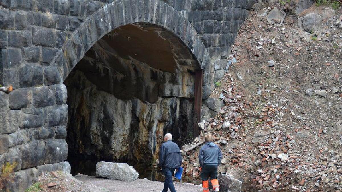 Odd Magne Røinås i Kringsjås Venner (t.v) er imponert over arbeidet Agder Energi har lagt ned på det gamle kraftverket.