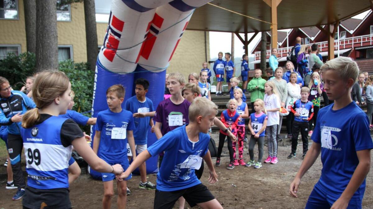 30 stafettlag deltok i sentrumsløpet.
