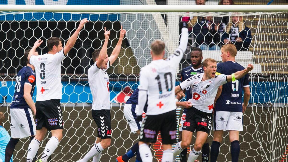 Steffen Hagen scoret for Odd.